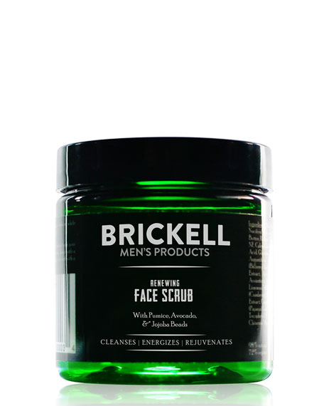 Brickell Men's Products Renewing Face Scrub, 4 oz./
