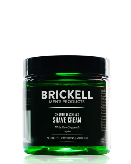 Brickell Men's Products Smooth Brushless Shave Cream, 5