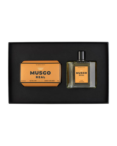 Gift Set (Soap on a Rope & Cologne) – Orange Amber