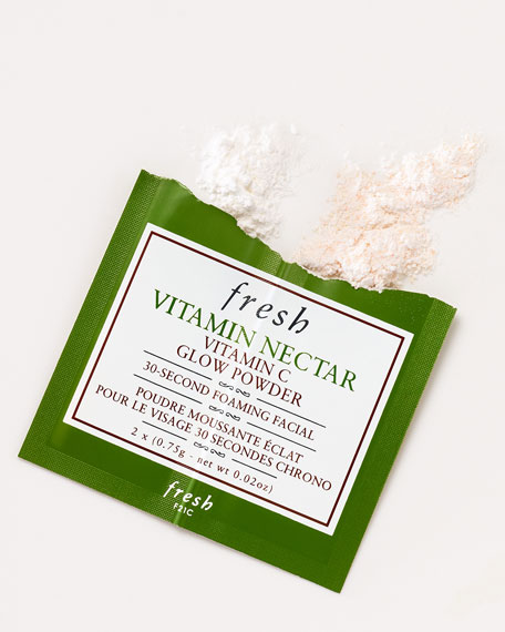 Vitamin Nectar Vitamin C Glow Powder 30-Second Foaming Facial, 12 Packets