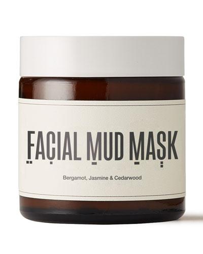 Facial Mud Mask - Bergamot, Jasmine & Cedarwood, 3.7 oz./ 109 mL