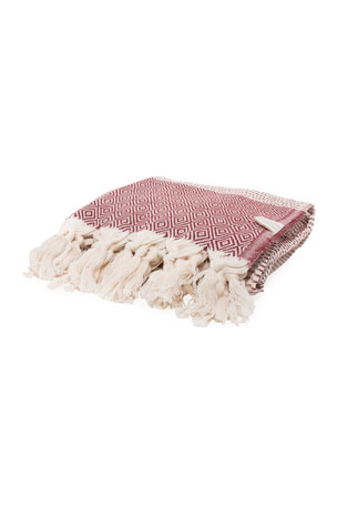 Vie Healing Medi Havlu Bordeaux Turkish Towel