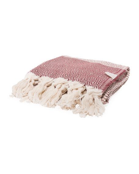 Vie Healing Medi Havlu Bordeaux Turkish Towel