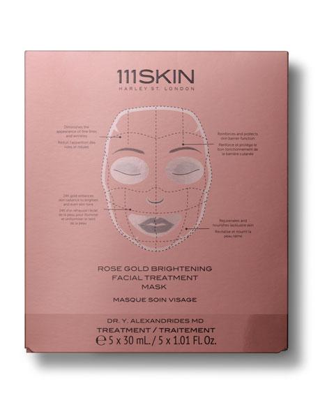 111SKIN Rose Gold Brightening Facial Treatment Mask, Five