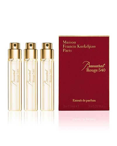 Baccarat Rouge 540 Extrait de Parfum Refills  3 x 0.37 oz./ 11 mL