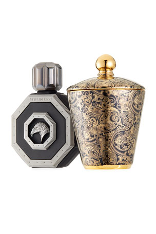 Stefano Ricci Men's Royal Eagle Cologne and Candle Gift Set