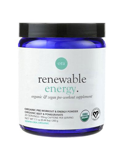 Renewable Energy: Pre-workout Powder