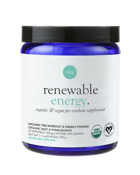 Ora Organic Renewable Energy: Pre-workout Powder