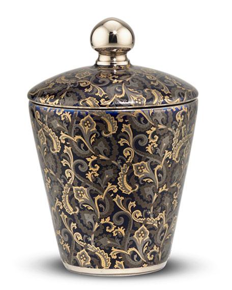Multicolor Paisley Royal Eagle Black Candle