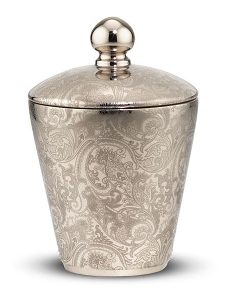 Tonal Paisley Royal Eagle Silver Candle