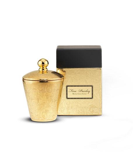 Fine Paisley Royal Eagle Gold Candle