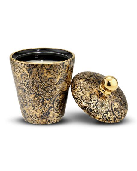 Fine Paisley Royal Eagle Black Candle