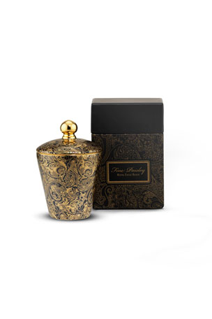 Stefano Ricci Fine Paisley Royal Eagle Black Candle