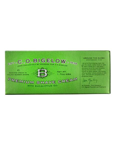 C.O. Bigelow Premium Shave Cream, 1.7 oz./ 50 mL