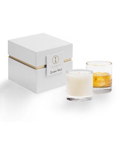 Iconic Wood Luxury Candle  9 oz.