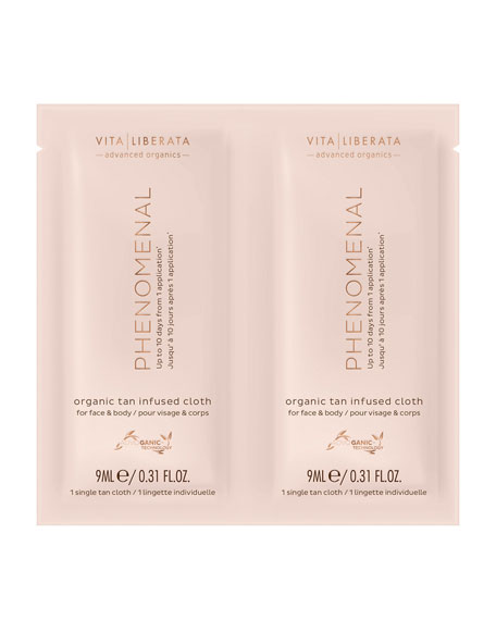 Vita Liberata pHenomenal Organic Tan Infused Cloths, 8 pack
