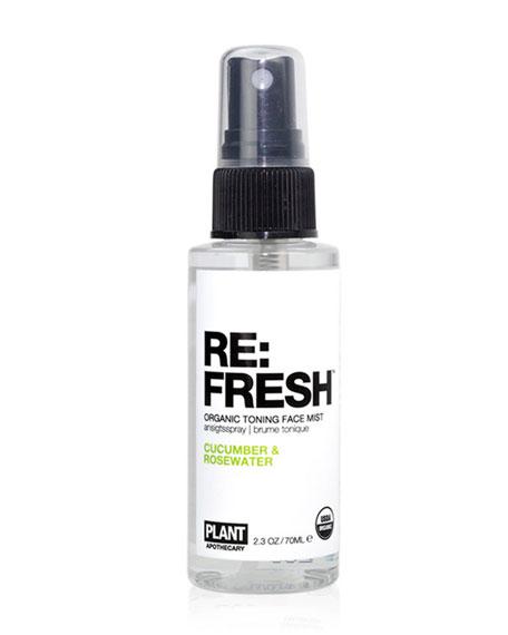 Plant Apothecary RE: Fresh Organic Toning Facial Mist, 2.3 oz./ 75 mL