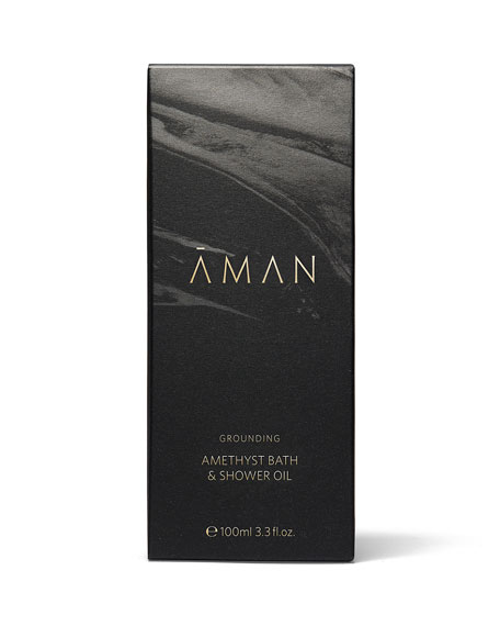 Aman Grounding Amethyst Bath & Shower Oil, 3.4 oz. / 100 mL