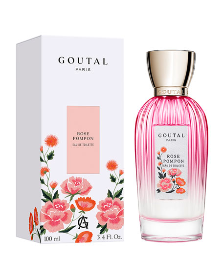 Image 2 of 4: Goutal Paris Embroidered Edition Rose Pom Pon Eau de Toilette, 3.4 oz./ 100 mL