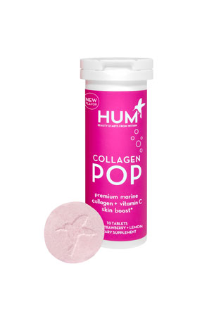 Hum Nutrition Collagen Pop + Vitamin C Dissolvable Tablets, Strawberry Lemonade