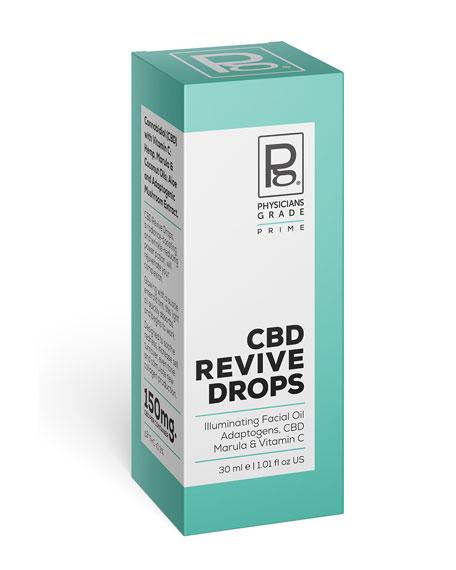 Physicians Grade CBD Revive Drops Illuminating Adaptogen + Vitamin C Facial Oil, 1 oz. / 30 ml