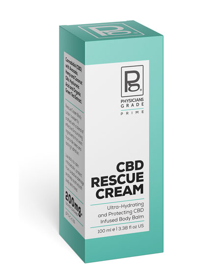 Physicians Grade CBD Rescue Cream&#160Ultra-Hydrating Body Balm, 3.4 oz. / 100 ml