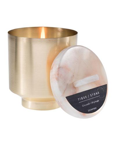 Elderflower Vetiver Onyx Brass Candle