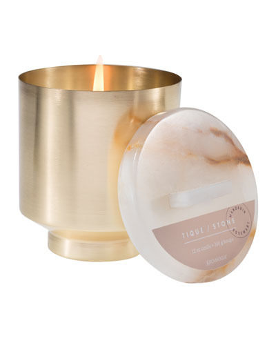 Mandarin Rosemary Onyx Brass Candle
