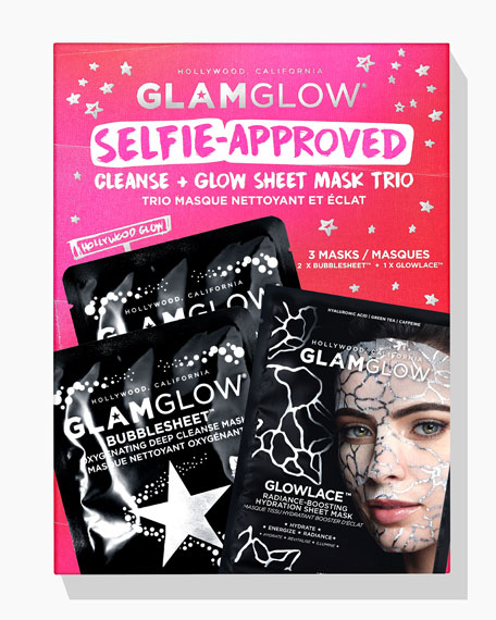 Glamglow Selfie-Approved Cleanse and Glow Sheet Mask Trio
