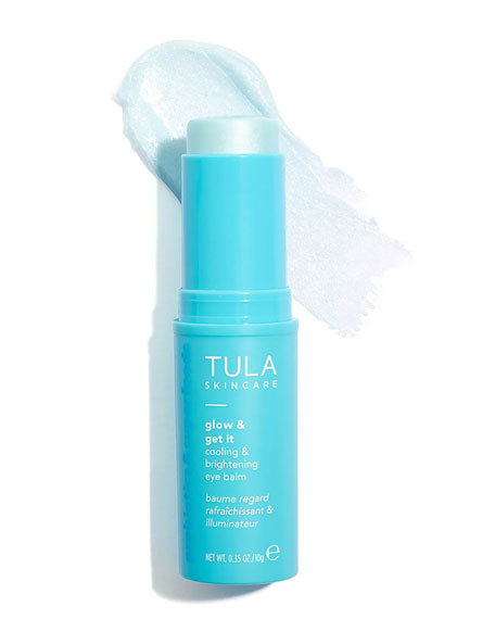 TULA Glow & Get It Cooling and Brightening Eye Balm, 0.35 oz. / 10g
