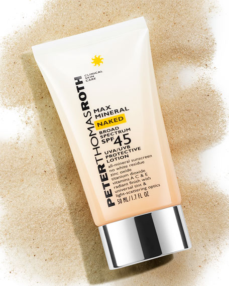 Peter Thomas Roth Max Mineral Naked Sunscreen Broad Spectrum SPF 45, 1.7 oz./ 50 mL