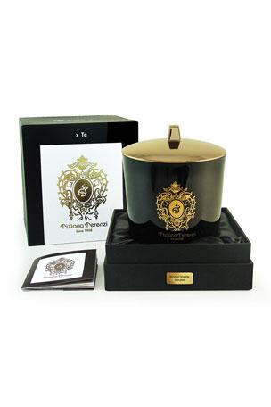 Tiziana Terenzi 17.6 oz. Almond Vanilla Black Maxi Glass Candle