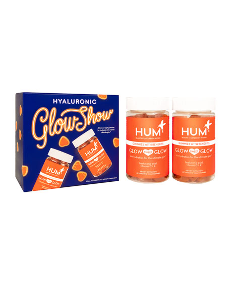 Hum Nutrition Hyaluronic Glow Show - Vegan Gummy Set for Glowing Skin