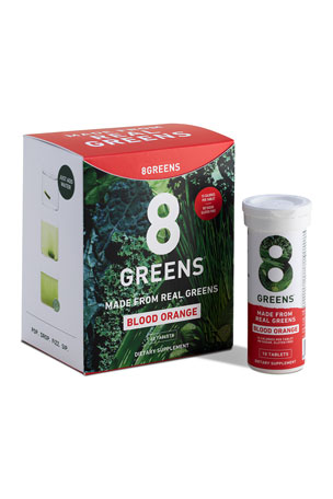 8 Greens Orange Tablets, 6 Pack Box