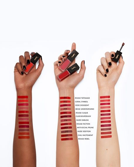 Yves Saint Laurent Beaute Tatouage Couture Velvet Cream Liquid Lipstick