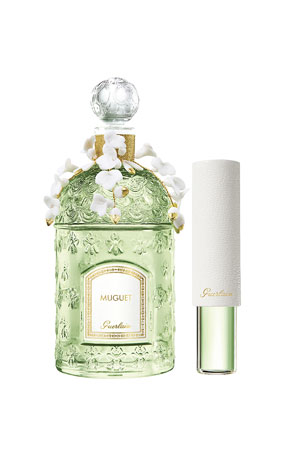 Guerlain Muguet 2020 Collector's Edition Eau de Toilette with Porcelain Flowers & Travel Size Spray