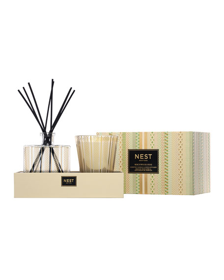 Image 2 of 2: Nest Fragrances Birchwood Pine Classic Candle & Diffuser Set