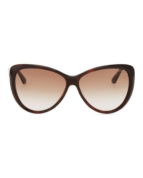 Malin Cat-Eye Sunglasses, Havana