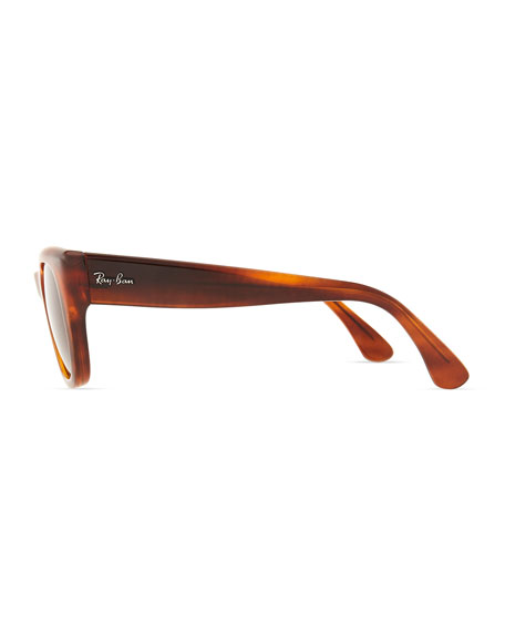 Cat-Eye Sunglasses, Shiny Black
