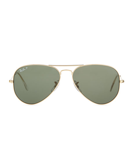 original aviator glasses  Ray-Ban Original Aviator Polarized Sunglasses, Green