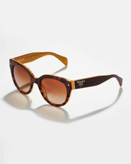 Heritage Cat-Eye Sunglasses, Yellow
