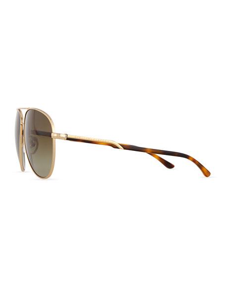 Metal Aviator Sunglasses, Golden