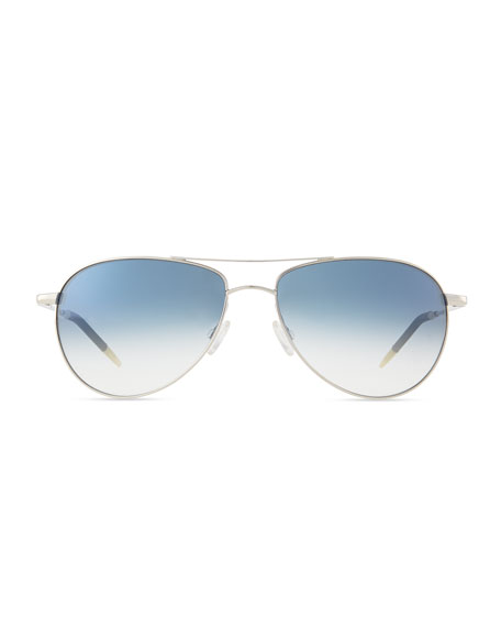 Benedict Basic Aviators, Silver/Chrome