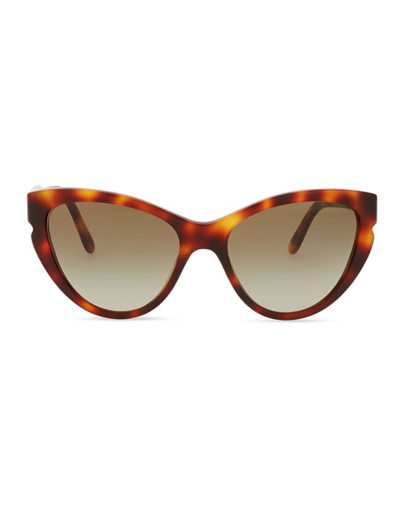 Cat-Eye Sunglasses, Tortoise