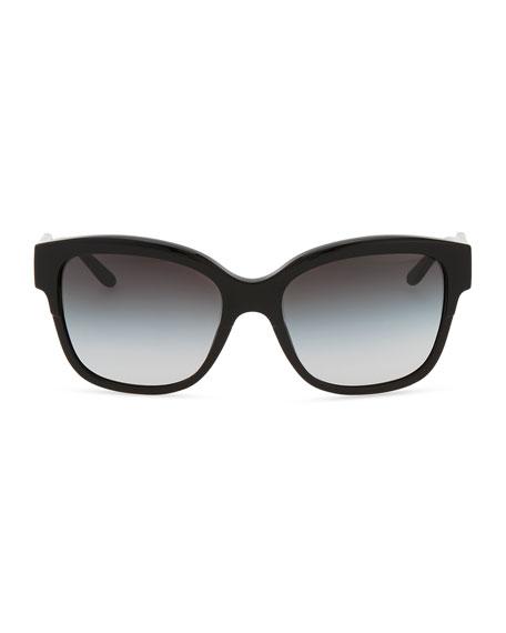 Oversize Cat-Eye Sunglasses, Black