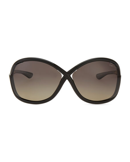 Whitney Polarized Cross Sunglasses