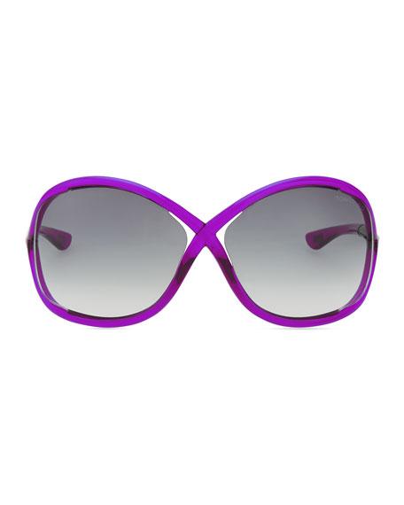 Whitney Bold Sunglasses, Magenta