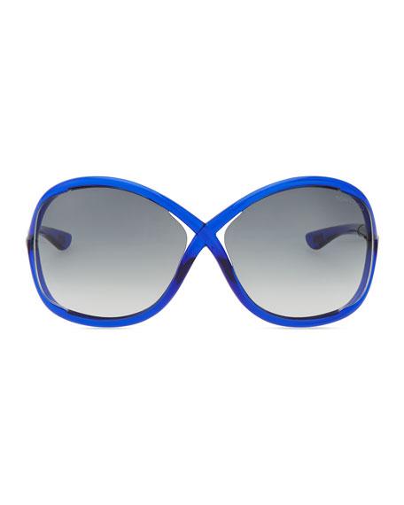 Whitney Bold Sunglasses, Deep Blue