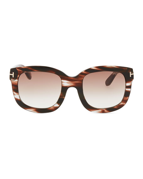 Christophe Oversized Sunglasses, Brown