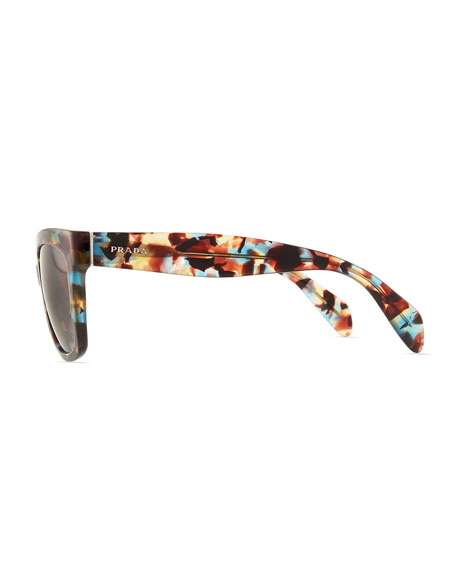 Tortoise Rectangle Sunglasses, Havana Blue